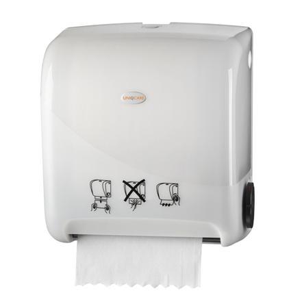 3155handdoek_dispenser_matic_manual_uniqcare_wit_pearl_wg