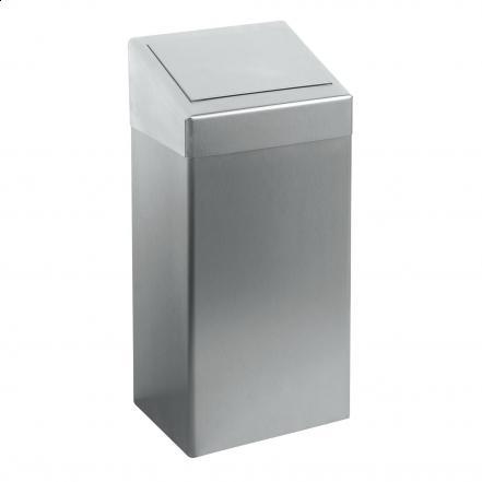 Afvalbak met klepdeksel 50 Ltr