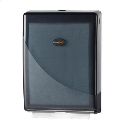 7929vouwhanddoek_dispenser_c-vouw_uniqcare_zwart_pearl_wg